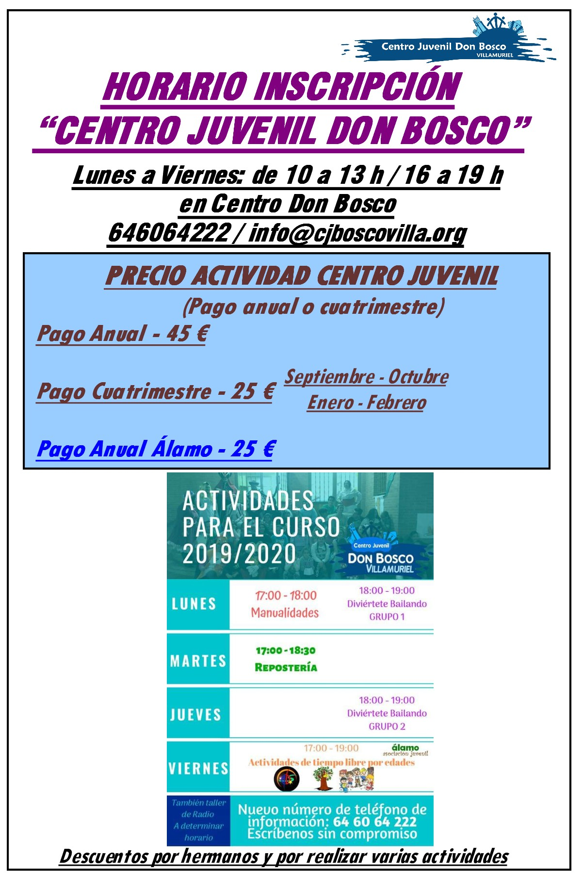 ACTIVIDADES CURSO 2019-20